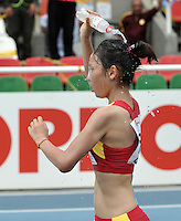CALI - COLOMBIA - 18-07-2015: Ke Xue de China, en acción durante la prueba de los 5000 metros en el estadio Pascual Guerrero sede, sede de IAAF Campeonatos Mundiales de la Juventud Cali 2015.  / Ke Xue of China, in action during the test of 5000 meters in the Pascual Guerrero home of the IAAF World Youth Championships Cali 2015. Photos: VizzorImage / Luis Ramirez / Staff.