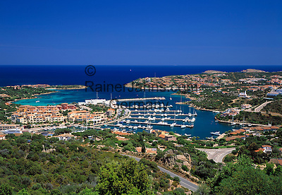 Italy, Sardinia, Costa Smeralda, Porto Cervo: Yacht harbour