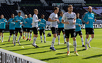 12th September 2020; Pride Park, Derby, East Midlands; English Championship Football, Derby County versus Reading; Derby County players warming up before the match