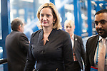 © Joel Goodman - 07973 332324 . 04/10/2016 . Birmingham , UK . AMBER RUDD crossing from hotel to conference centre on the third day of the Conservative Party Conference at the International Convention Centre in Birmingham . Photo credit : Joel Goodman