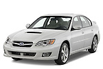 Front three quarter view of a 2008 Subaru Legacy GT sedan.