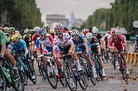 Julian Alaphilippe (FRA/Quick-Step Floors) racing down the famous Champs-Élysées<br /> <br /> Stage 21: Houilles > Paris / Champs-Élysées (115km)<br /> <br /> 105th Tour de France 2018<br /> ©kramon
