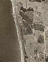 historical aerial photograph Lake Merced, Lakeshore and Broadmoor neighborhoods, San Francisco, California, 1968