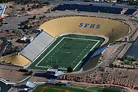 aerial photograph of the Ivan Head Football Stadium, Santa Fe High School, Santa Fe, New Mexico