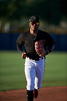 AZL D-backs center fielder Wilderd Patino (16) jogs off the field between innings of an Arizona League game against the AZL Mariners on July 3, 2019 at Salt River Fields at Talking Stick in Scottsdale, Arizona. The AZL D-backs defeated the AZL Mariners 3-1. (Zachary Lucy/Four Seam Images)