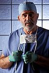 portrait of surgeon in scrubs
