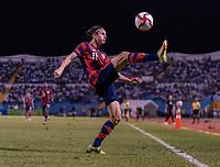 SAN PEDRO SULA, HONDURAS - SEPTEMBER 8: Brenden Aaronson #11 of the United States controls a ball during a game between Honduras and USMNT at Estadio Olímpico Metropolitano on September 8, 2021 in San Pedro Sula, Honduras.