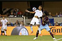 SAN JOSE, CA - JULY 27: Danny Hoesen, Lalas Abubakar during a Major League Soccer (MLS) match between the San Jose Earthquakes and the Colorado Rapids on July 27, 2019 at Avaya Stadium in San Jose, California.
