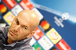 Real Madrid's coach Zinedine Zidane in press conference before UEFA Champions League match. February 14,2017.(ALTERPHOTOS/Acero)