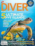 Sport Diver Magazine, October 2011, cover use, USA, Image ID:
