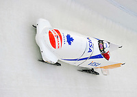 17 December 2010:  Mellissa These pilots her 2-man bobsled for Canada, finishing 13th for the day at the Viessmann FIBT World Cup Bobsled Championships in Lake Placid, New York, USA. The event was a Make-up Race from the previous week at Park City where the Women's Bobsled had to be cancelled due to severe snow conditions. Mandatory Credit: Ed Wolfstein Photo