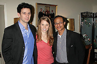 Ronnie Marmo with Hailey Agnew and Clinton H.Wallace<br />at a party hosted by Theatre 68 to Announce the John Patrick Shanley Festival. Private Residence, Beverly Hills, CA. 02-23-09<br />Dave Edwards/DailyCeleb.com 818-249-4998