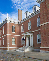 Library Hall founded by Ben Franklin in 1731. First library in the United States. Philadelphia, Pennsylvania, USA