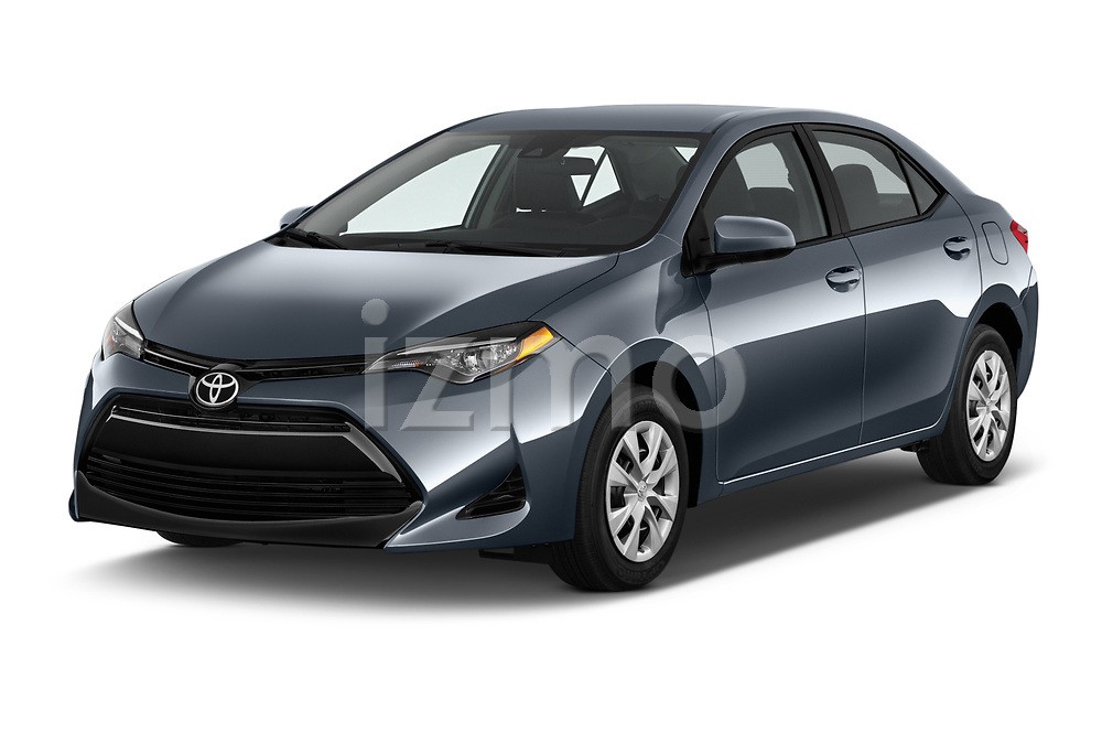 2018 Toyota Corolla L 4 Door Sedan angular front stock photos of front three quarter view