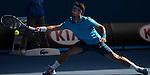 Novak Djokovic (SRB) defeats Fabio Fognini (ITA) 6-3, 6-0, 6-2 at the Australian Open in Melbourne, Australia on January 19 2014