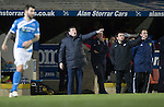 St Johnstone v Rangers…28.12.16     McDiarmid Park    SPFL<br />Tomy Wright and Callum Davidson give instructions<br />Picture by Graeme Hart.<br />Copyright Perthshire Picture Agency<br />Tel: 01738 623350  Mobile: 07990 594431