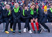 Richmond, VA - March 17, 2018: The North Carolina Courage defeated the Washington Spirit 3-0 during a preseason National Women's Soccer League (NWSL) match at City Stadium.