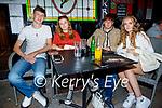 Enjoying the evening in Tatler Jacks in Killarney on Thursday, l to r: Jack McCarthy, Shauna Clifford (Tralee), Jamie Butler and Danielle Hannon.