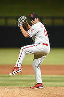 Scottsdale Scorpions pitcher Colton Murray (44) during an Arizona Fall League game against the Salt River Rafters on October 7, 2014 at Salt River Fields at Talking Stick in Scottsdale, Arizona.  Scottsdale defeated Salt River 7-4.  (Mike Janes/Four Seam Images)