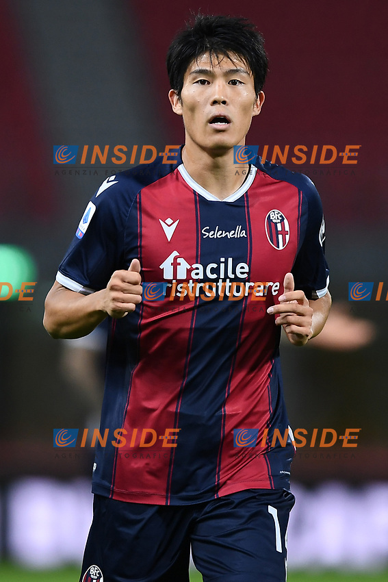 Takehiro Tomiyasu <br /> during the Serie A football match between Bologna FC and Parma Calcio 1913 at stadio Renato Dall Ara in Bologna (Italy), September 28th, 2020. Photo Image Sport / Insidefoto