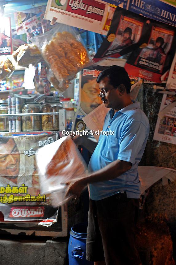 Magazine shop in Madras, India