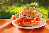 smoked salmon & mayonese bagel.