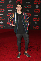 LOS ANGELES, CA - DECEMBER 9: Noah Centineo, at Premiere Of Disney Pictures And Lucasfilm's 'Star Wars: The Last Jedi' at Shrine Auditorium in Los Angeles, California on December 9, 2017. Credit: Faye Sadou/MediaPunch /NortePhoto.com NORTEPHOTOMEXICO