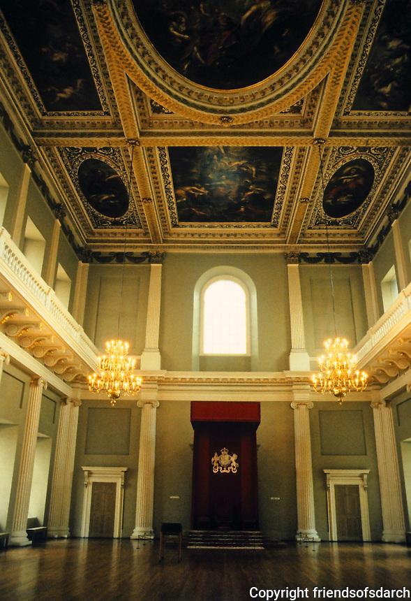 Inigo Jones: Banqueting House. Whitehall, 1619. Interior detail. Photo '87.
