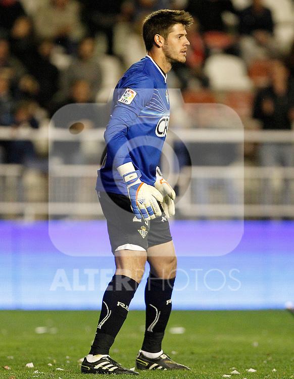 Betis' Fabricio Agosto Ramirez during La Liga match.March 17,2012. (ALTERPHOTOS/Acero)