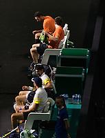 Rotterdam, The Netherlands, 28 Februari 2021, ABNAMRO World Tennis Tournament, Ahoy, First round doubles: Jeremy Chardy (FRA) / Fabrice Martin (FRA) vs. Sander Arends (NED) / David Pel (NED).<br /> Photo: www.tennisimages.com/henkkoster