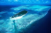 Aerial view of Australia Great Barrier Reef North Queensland