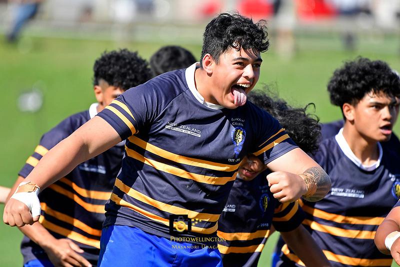 College Rugby – Rongotai College v Nelson College at Rongotai College, Wellington, New Zealand on Wednesday 14 April 2021. <br /> Photo by Masanori Udagawa. <br /> www.photowellington.photoshelter.com