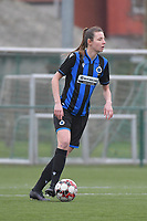 Nicky Van Den Abbeele (28) of Club Brugge pictured during a female soccer game between SV Zulte - Waregem and Club Brugge YLA on the 13 th matchday of the 2020 - 2021 season of Belgian Scooore Womens Super League , saturday 6 th of February 2021  in Zulte , Belgium . PHOTO SPORTPIX.BE | SPP | DIRK VUYLSTEKE