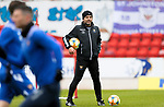 St Johnstone Training...06.05.21<br />Manager Callum Davidson pictured during training this morning at McDiarmid Park ahead of Sundays Scottish Cup semi-final against St Mirren.<br />Picture by Graeme Hart.<br />Copyright Perthshire Picture Agency<br />Tel: 01738 623350  Mobile: 07990 594431