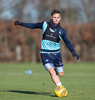 Sam Saunders of Wycombe Wanderers during the Wycombe Wanderers Training session at Wycombe Training Ground, High Wycombe, England on 17 January 2019. Photo by Andy Rowland.