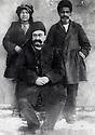 Iran 1910. Hadj Ahmed Agha Mokri with 2 servants, brother of  Mohammed Agha Ghassemlou and uncle of Abdul Rahman Ghassemlou <br /> <br /> Iran 1910. Hadj Ahmed Agha Mokri avec 2 serviteurs. Il est le frère de Mohammed Agha Ghassemlou et l'oncle de Abdul Rahman Ghassemlou<br /> <br /> ئیران 1910 ، حاجی ئه حمه د ئاغای موکری له گه ل خزمه تکاره کانی . برای موحه مه د ئاغای قاسملو، مامی عه بدولرحمان قاسملو