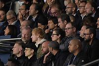 28th September 2021, Parc des Princes, Paris, France: Champions league football, Paris-Saint-Germain versus Manchester City:  Nasser Al Khelaifi ( president PSG ) - Leonardo Nascimento de Araujo ( director sporting PSG )