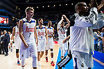 Real Madrid's player Luka Doncic, Rudy Fernandez, Dontaye Draper and Jonas Maciulis during match of Liga Endesa at Barclaycard Center in Madrid. September 30, Spain. 2016. (ALTERPHOTOS/BorjaB.Hojas)