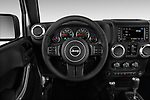 Car pictures of steering wheel view of a 2017 JEEP Wrangler-Unlimited Sahara 5 Door SUV Steering Wheel