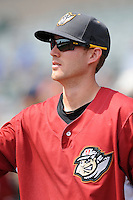 Altoona Curve infielder Kelson Brown (6) during game against the Trenton Thunder at Samuel L. Plumeri Sr. Field at Mercer County Waterfront Park on August 22, 2012 in Trenton, NJ.  Altoona defeated Trenton 14-2.  Tomasso DeRosa/Four Seam Images