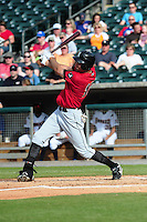 Jordan Danks swings at pitch at Smokies Park May 21, 2009  in Sevierville, TN (Photo by Tony Farlow/ Four Seam Images)