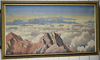 BNPS.co.uk (01202 558833)<br /> Pic: StroudAuctions/BNPS<br /> <br /> Pictured: A painting entitled, 'From Top of Mount Fuji, Japan'<br /> <br /> Fascinating art work by a British mountaineer who twice climbed Mount Everest have sold at auction a century later for over £30,000.<br /> <br /> Theodore Howard Somervell took part in pioneering expeditions to the Himalayas in 1922 and 1924.<br /> <br /> He got to within 1,000ft of the summit, the highest point reached at that time, despite not using an oxygen tank.<br /> <br /> The skilled artist produced dozens of watercolours and sketches of the scenes he witnessed, including glacial peaks and camp life.<br /> <br /> His works sparked a bidding war when they were sold by a direct descendant with Stroud Auctions, of Gloucs.  An oil on canvas painting of Everest base camp in 1922 sold for £7,500, almost 40 times its estimate.