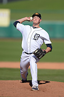 Mesa Solar Sox Pitcher Corey Knebel (72), of the Detroit Tigers organization, during an Arizona Fall League game against the Scottsdale Scorpions on October 15, 2013 at HoHoKam Park in Mesa, Arizona.  Mesa defeated Scottsdale 7-4.  (Mike Janes/Four Seam Images)