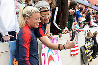 Houston, TX - Sunday April 08, 2018: Jane Campbell, Fans during an International Friendly soccer match between the USWNT and Mexico at BBVA Compass Stadium.