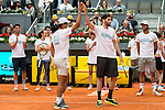 Rafa Nadal and Rudy Fernandez during the Charity Day of the Mutua Madrid Open at Caja Magica in Madrid. April 29, 2016. (ALTERPHOTOS/Borja B.Hojas)