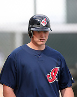 Nick Weglarz. Cleveland Indians spring training workouts at their complex in Goodyear, AZ - 03/06/2010.Photo by:  Bill Mitchell/Four Seam Images.