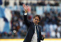 Football, Serie A: S.S. Lazio - Spal, Olympic stadium, Rome, February 2, 2020. <br /> Lazio's coach Simone Inzaghi celebrates after winning 5-1 the Italian Serie A football match between S.S. Lazio and Spali at Rome's Olympic stadium, Rome , on February 2, 2020. <br /> UPDATE IMAGES PRESS/Isabella Bonotto