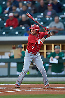 Stephen Pitarra (7) of the North Carolina State Wolfpack at bat against the Charlotte 49ers at BB&T Ballpark on March 29, 2016 in Charlotte, North Carolina. The Wolfpack defeated the 49ers 7-1.  (Brian Westerholt/Four Seam Images)