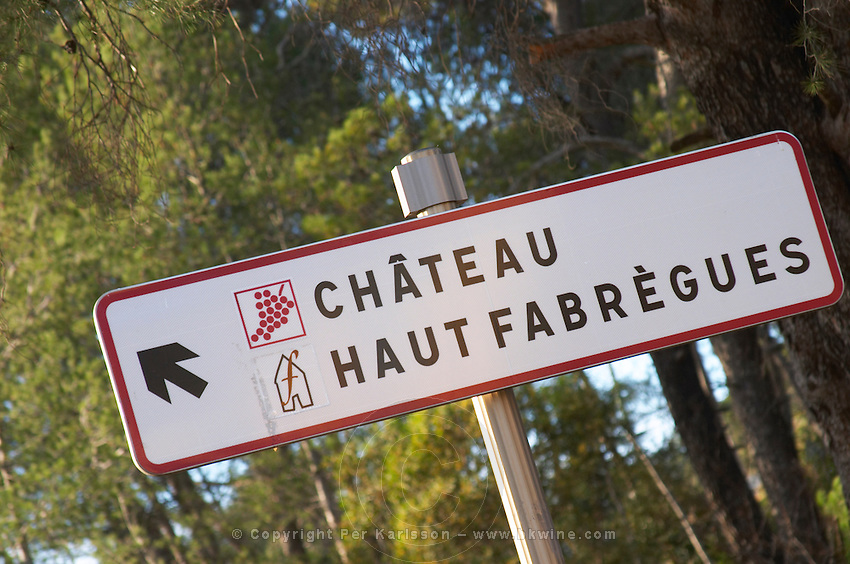 Chateau Haut Fabregues. Faugeres. Languedoc. France. Europe.