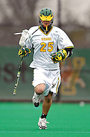 10 April 2007: University of Vermont Catamounts' Sean Fitzgerald, a Freshman from Downington, PA, in action against the Holy Cross Crusaders at Moulton Winder Field, in Burlington, Vermont. The Crusaders rallied to defeat the Catamounts 5-4...Mandatory Photo Credit: Ed Wolfstein Photo